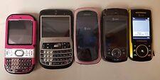 Lot Of 5 Cell Phones Parts Repair Pantech Samsung Windows Palm