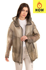 RRP €2045 ISAAC SELLAM EXPERIENCE Transparent Leather Jacket Size 36 / S Hooded