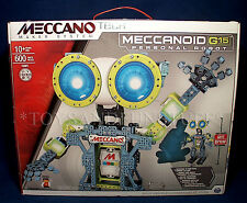 New MECCANOID G15 PERSONAL ROBOT Meccano Tech INTERACTIVE Building Set 15401