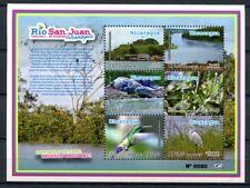 Nicaragua 2012 Block 336 Fluß San Juan Vögel Birds Krokodil Crocodile Leguan MNH