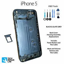 NEW Back Cover Housing Assembly Replacement Pre Assembled For iPhone 5 - BLACK