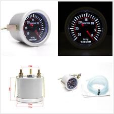 Waterproof 2'' 52mm 12V Car LED Digital Vacuum Gauge 30-0 IN.HG Meter Smoke Lens