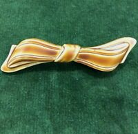 Antique Celluloid Brooch 1920s Painted Celluloid Bow Brooch Antique Jewellery