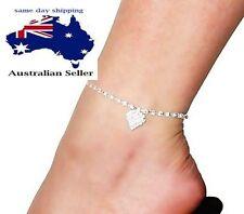 Rhinestone Silver Plated Fashion Anklets