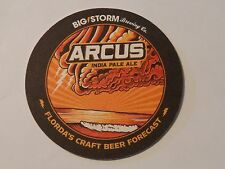 Beer Collectible Coaster ~*~ BIG STORM Brewing Co Arcus India Pale Ale ~ FLORIDA