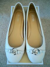 fa6997bc88ff Size 7 Michael Kors Hampton Ballet Shoes   Ecru Leather Moccasin Loafer  Flats