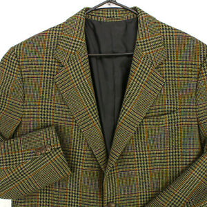 WILKES BASHFORD Olive Green Glen Check PLAID TWEED BLAZER SUIT JACKET MEN'S 42R
