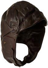 MIL-TEC Cappellino da aviatore da uomo in pelle, Uomo, 12425009-904, (g6q)