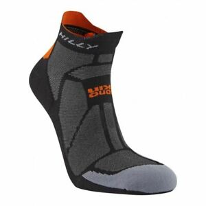Hilly Urban Marathon Fresh Socklet Sports Running Socks - Black/Orange