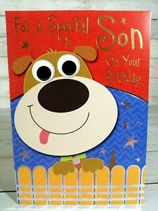 Special Son On Your Birthday Card, Cute Dog