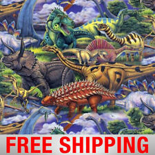"""Dinosaurs Allover Fleece Fabric - 60"""" Wide - Style# 3168 - Free Shipping!!"""