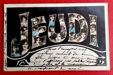 CPA. 1906. JEUDI. Grosses Lettres. Têtes de Femmes.  Jour de la Semaine.