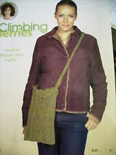 ladies leaves & berrys shoulder bag KNITTING PATTERN removed from knitting mag
