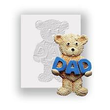 Moule en silicone-ours en peluche papa-plat soutenu mini sculpture-sécurité alimentaire
