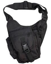 Tactical Shoulder Bag BLACK Daysack Army Camping Rucksack Camera Pack
