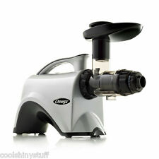 Omega NC800HDS Juicer Silver Fruit Vegetable Greens Wheatgrass Juice Extractor