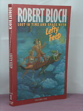 1st,signed(authbkp,int),L ost in Time Space with Lefty Feep by Robert Bloch(1987)
