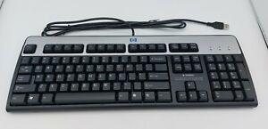 NEW HP Wired USB Keyboard Black/Silver 104-Key KU-0316 NIB