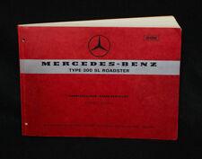 1963 Mercedes-Benz 300SL Roadster Spare Parts Catalog C Manual