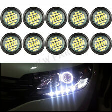 10 White DC 12V 15W Eagle Eye LED Daytime Running DRL Backup Light Car Rock Lamp