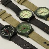 Watreproof Herren Uhr Canvas Armband Sportuhr  Armbanduhr Nette NEU