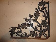 LARGE Cast Iron Antique Oak Leaf & Acorn Bracket Garden Braces Shelf Bracket