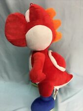 "2017 Super Mario Brothers Red Yoshi Plush 15"" Stuffed Animal Toy (7)"