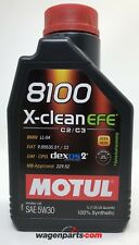 Aceite Motor Motul 8100 X-Clean EFE 5W30 ACEA C2 / C3, 1 Litro