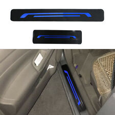 Car Door Sill Scuff Plate Guard Door Entry Pad Auto Accessories  Sticker blue