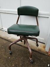 "Vintage Harter #E-32-R Office/Desk Swivel Rolling Chair dtd ""Oct 4, 1951"""