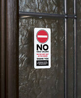 SKU009 - No Cold Callers - Front Door Letter Box Sign / Sticker - 30mm x 65mm