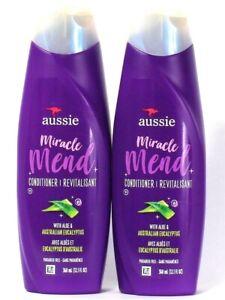2 Bottles Aussie 12.1 Oz Miracle Mend Aloe Australian Eucalyptus Conditioner