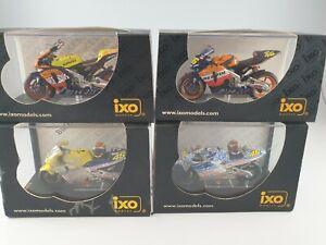 Valentino rossi IXO 1:24 Scale Models x 4 Racing Motorbikes Honda #46