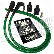 GANG GREEN METALFLAKE CHOPPER HARLEY XS650 7MM IGNITION WIRE SPARK PLUG KIT