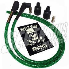 GANG GREEN METALFLAKE CHOPPER HARLEY XS650 7MM IGNITION WIRE SPARK PLUG KIT