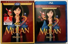 DISNEY MULAN 1 & 2 BLU RAY + SLIPCOVER SLEEVE 2 MOVIE COLLECTION FREE SHIPPPING