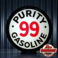 "Purity 99 Gasoline - 13.5"" Gas Pump Globe -  Made by Pogo's Garage"