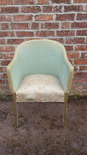 A Pretty Vintage Loom Style/Wicker Type Retro Tub Armchair Green & Gold 1950's