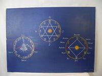 Bettina Ulitzka, Kalender, Zeit, und Planetenkonstellationen, Ölgemälde
