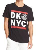 DKNY Mens T-Shirt Black Size XL Logo New York Graphic Crewneck Tee $39 #514