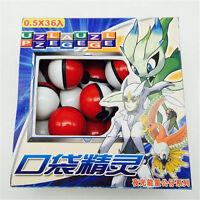 36pcs/lot Pokemon Pocket Monsters Pokeball small mega glowing model toy Gift New