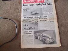 Motoring News 30 December 1971 Ronnie Peterson Interview BMW 2000 Touring