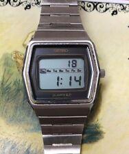 Vintage Mens Seiko Quartz LCD Watch Stainless Steel 0139 5019 71775 NICE!