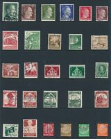 Lot Stamp Germany WWII 3rd Reich Hitler Saar Train Nuremburg Hindenburg Bugle U