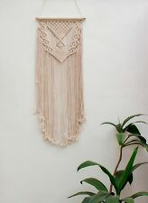 Handmade Macrame Wall Hanging Woven Wall Art Macrame Tapestry Boho Wall Decor Lo