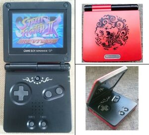Red Chinese Dragon Game Boy Advance GBA SP AGS 101 Brighter Backlit LCD Console