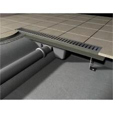 Shower channels / Drain trays / Floor from stainless steel 1200mm, incl. Rack