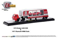 M2 Machines Auto Hauler 30 1970 Dodge L600 COE and 1971 Plymouth HEMI Cuda