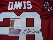 Mike Davis signed South Carolina USC Gamecocks size 52 jersey JSA COA Seahawks
