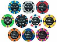Sample Set Radial Interlocking 2gram Plastic Poker Chips 1 of each 11 colors
